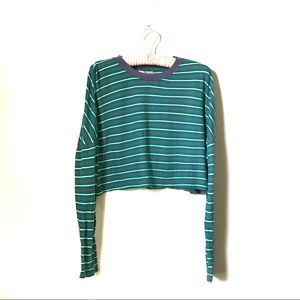 Urban Outfitters   Striped Cropped Tee